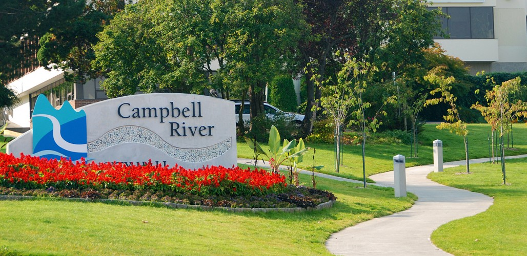sign design city hall campbell river landscape