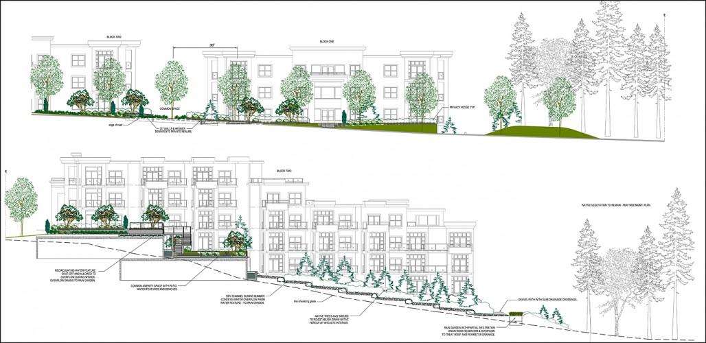 condominium landscape design hillside
