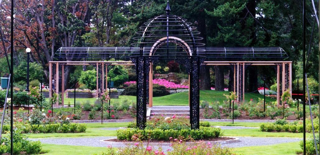 formal garden pergola