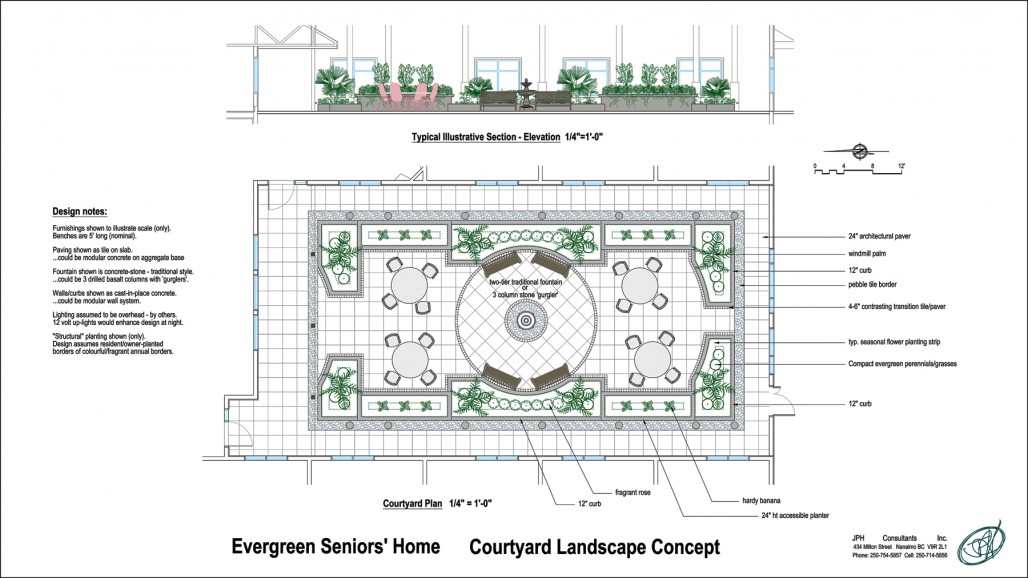 courtyard design landscape seniors