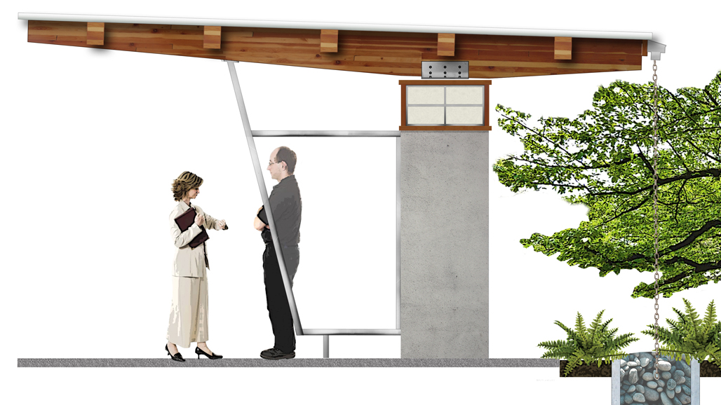 landscape shelter design campbell river japanese-influenced